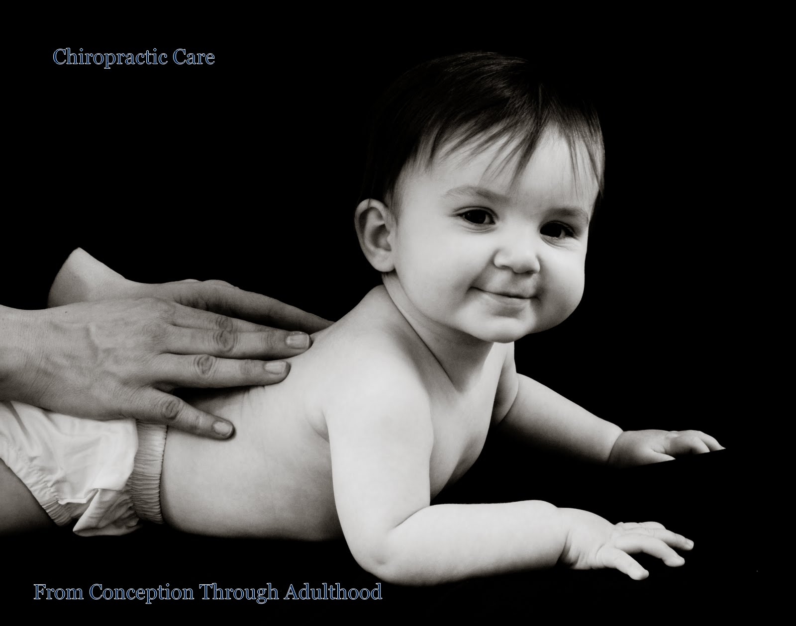 Baby getting an Admustment at Gallagher Chiropractic in Charlotte